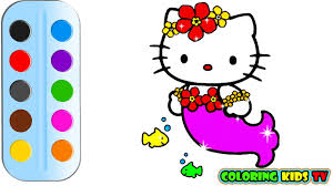 coloring pages kitty u0026 drawing children color