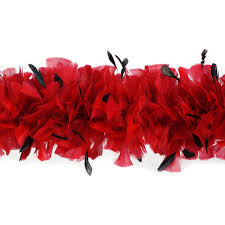 turkey feather boa turkey feather boas with stripped coque black