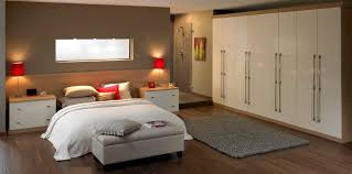 Contemporary Fitted Bedroom Furniture Cream Gloss And Walnut Bedroom Furniture Uv Furniture