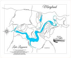 State Of Maryland Map by Lake Linganore Maryland Wood Laser Cut Map