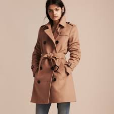wool cashmere trench coat in camel women burberry united states