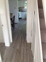 Distressed Flooring Laminate Karndean Van Gogh Distressed Oak With A Feature Strip To Give A