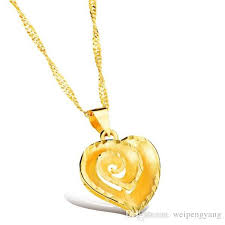 valentines necklace valentines gift heart necklace women jewelry wholesale 18k real