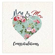 wedding day congratulations mrs mrs wedding day card wedding congratulations same