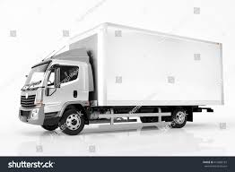 Home Design 3d Trailer by Commercial Cargo Delivery Truck Blank White Stock Illustration