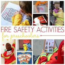 preschool activities for a fire safety theme pre k pages