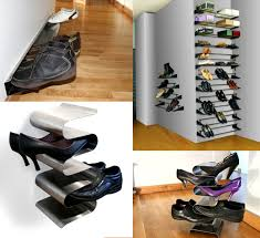 hanging shoe organizer creative wall mounted shoe rack for small wardrobe spaces ideas