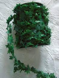 wired miniature pvc leaf garland 27yds