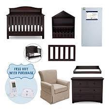 amazon com serta barrett 7 piece nursery furniture set with free