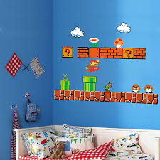 Boys Nursery Wall Decals Home Evolution Mario Build A Peel And Stick Wall