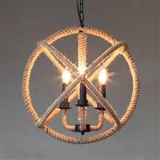 Globe Light Fixtures Hemp Rope L Iron Globe Vintage Pendant Light American