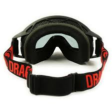 motocross goggle new dragon mx nfx2 black red injected smoke dark tinted motocross