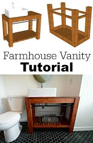 modern farmhouse bathroom vanity tutorial decor and the dog enjoy that new bathroom vanity