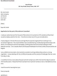 recruiting cover letter recruiting assistant cover letter sample
