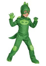 Boy Costumes Boys Deluxe Gekko Costume From Pj Masks