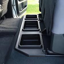 Toyota Tundra Interior Accessories 2014 2018 Toyota Tundra Crewmax Plastic Rear Under Seat Storage