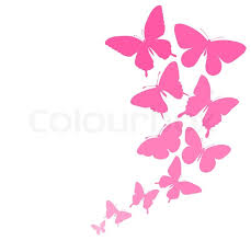 background with a border of butterflies flying perfect for