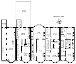 brownstone floor plans house of the day 259 decatur street brownstoner