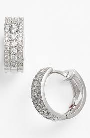 small diamond hoop earrings roberto coin classic diamond small hoop earrings nordstrom