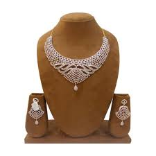 diamond sets design designer diamond necklace sets at rs 2000 heere ke haar ka set