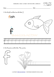 writing worksheet for letter f