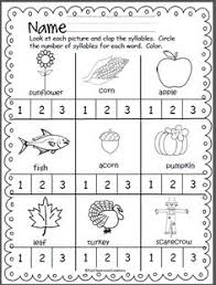 how many syllables a syllable counting printable pack