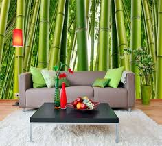 interior home with bamboo wall mural home design large full