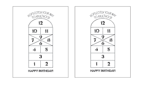 hello wonderful free printable hopscotch birthday cards