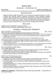 college student resume example business and marketing