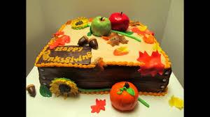 acción de gracias ideas de decoración de tortas thanksgiving