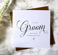 to my groom on our wedding day card to my groom wedding card wedding messages postage costs and wedding