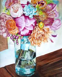 Flowers For Mum - flowers for mum watercolor paintings u0026 oil paintings for sale by