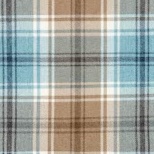 Tartan Drapes Mcalister Textiles Angus Woven Wool Feel Duck Egg Blue Tartan