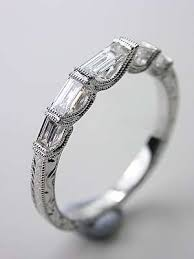 white gold vintage wedding bands estate vintage white gold wedding band with baget dimonds best
