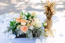 wedding flowers hawaii gold centerpiece fall greenery hawaii wedding