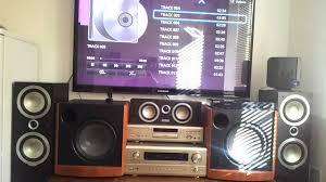 boston home theater system tannoy denon boston acoustics my home hifi setup youtube