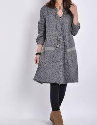 gray women cotton linen coat loose outwear casual spring dress