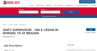 braum u0027s job application adobe pdf apply online