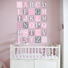 Alphabet Wall Decals For Nursery by Gray And Baby Pink Alphabet Block Wall Decals U2013 Wall Dressed Up