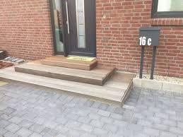 holz fã r treppen außentreppe für den hauseingang treppe selber bauen treppe