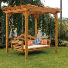 cedar pergola swing bed stand creative porch and backyard swing
