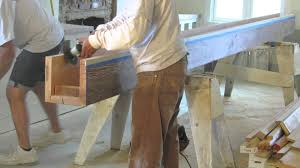 How To Build A Reclaimed by Reclaimed Wood Installing Box Beams Youtube