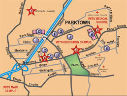 map to parktown cus wits