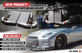 nissan gtr quad turbo new agency power upgraded intercooler kit available for the nissan