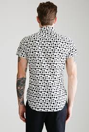 forever 21 dalmatian dotted shirt in white for men lyst