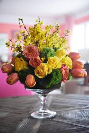 How To Make A Flower Centerpiece Arrangements by Easy Spring Centerpiece Ideas Hgtv