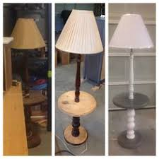 vintage shabby chic side table floor lamp handpainted with annie