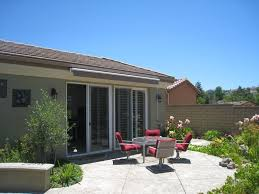Yard Awning Retractable Awnings U0026 Patio Covers Los Angeles Ca Inter Trade