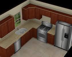10x10 Kitchen Floor Plans by Kitchen Endearing Small L Shaped Kitchen Modern In Window Set At