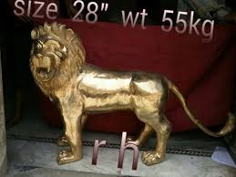 metal lion statue brass lion statue brass lion king statue manufacturer from aligarh